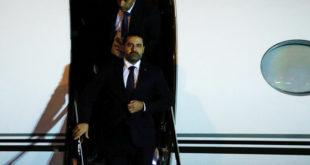 """De retour au Liban, Saad Hariri annonce que sa démission est """"en suspens"""""""